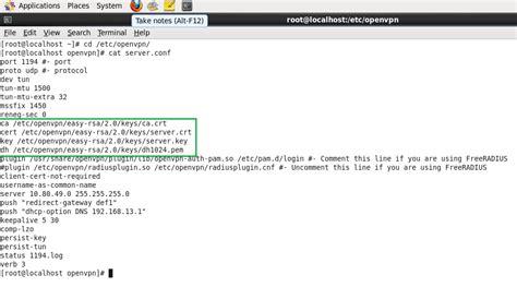 configure xp centos openvpn configuration centos xp server client