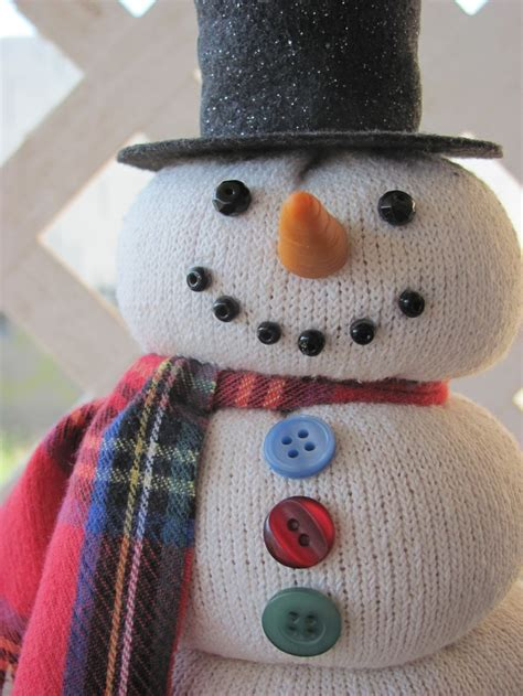sock snowman sock snowman crafts