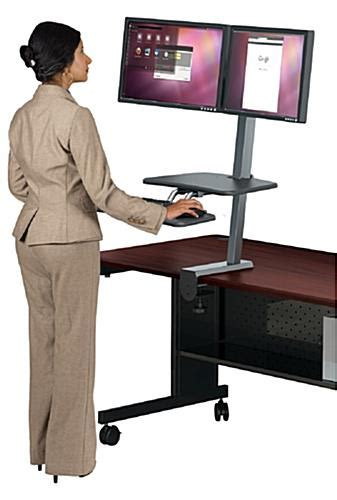 Sit Stand Desk Attachment Tilting Panning Brackets Sit Stand Desk Attachment