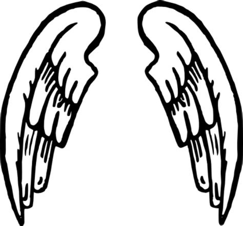 simple angel wings drawing cliparts co