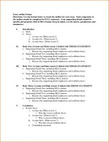 Outline Sample For Essay 8 Essay Outline Template Authorizationletters Org