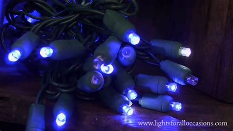 led string lights blue wide angle bulbs cool white