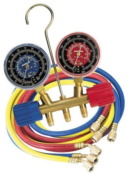 Manifold Robinair robinair two way brass manifold sets