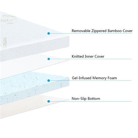 New Memory Foam Mattress Smells by 3 Quot Size Comfort Bamboo Cover Cool Gel Memory Foam