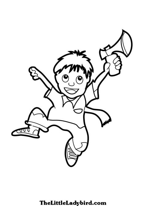 boy jumping coloring page jumping coloring pages thelittleladybird com
