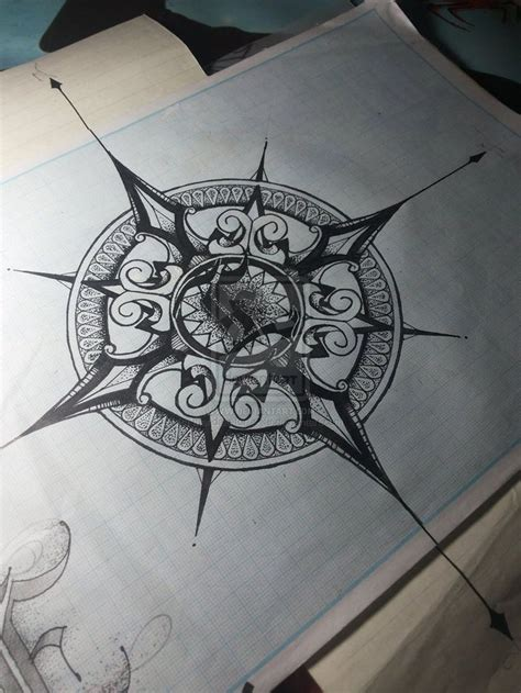 Compass Tattoo Vintage   vintage compass tattoo when you think of this tattoo made