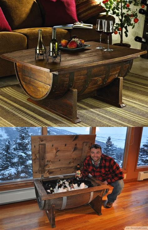 cool coffee table ideas diy old wine barrel coffee table with storage for cool