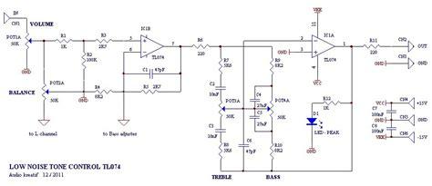 Pasaran Audio Mixer rangkaian power merancang tone low noise