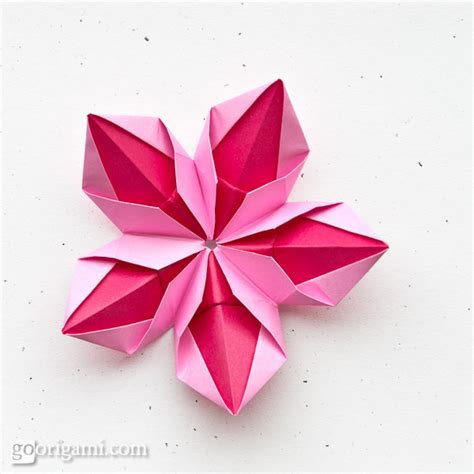 How To Make Flower Paper Origami - origami flowers and plants gallery go origami
