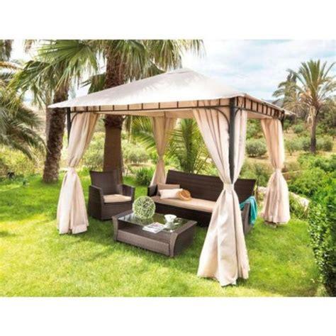 tonnelle de jardin carrefour carrefour tonnelle de jardin argentona l 300 x l 300 x h 270 cm beige 233 cru pas cher
