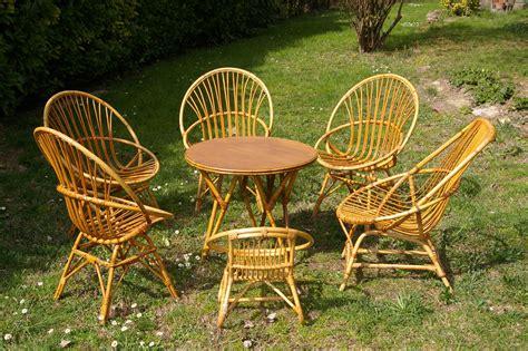 Salon De Jardin Rotin Vintage