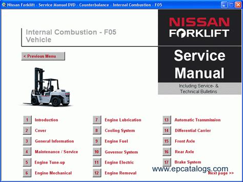 nissan forklift service manuals 2009 repair manual