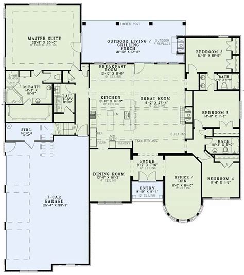 European Floor Plans by European House Plans Cottage House Plans
