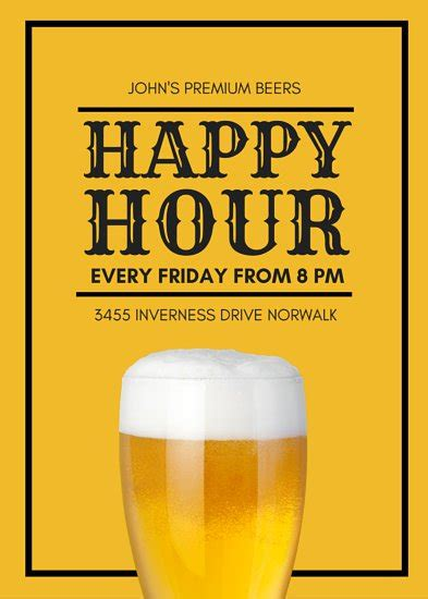 happy hour sign template happy hour flyer templates canva