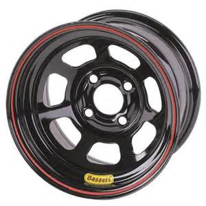 Black Nascar Truck Wheels New Bassett Racing 13 X 7 Quot Pony Mini Stock 4 On 4 25