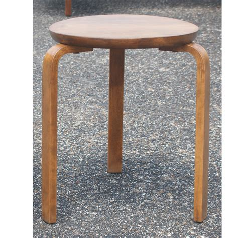 alvar aalto style stacking stool side table ebay