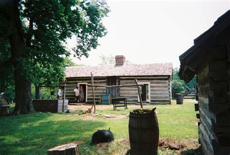 Lincoln Log Cabin Historic Site by Lincoln Farm Goosenest Farm Illinois