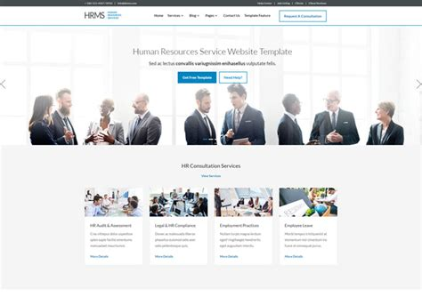 Human Resources Website Templates Hrms Human Resource Management Responsive Template Ease Template
