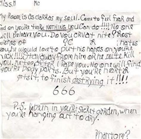 Creepy Letters From Stalkers