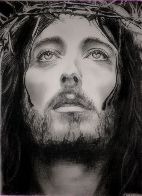 Black And White Drawings Of Jesus by Jesus Of Nazareth Drawing Custom Jesus Charcoal