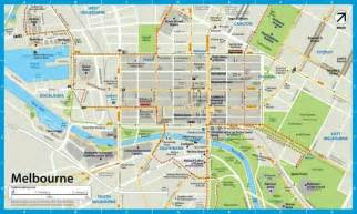 map of city of melbourne map travel
