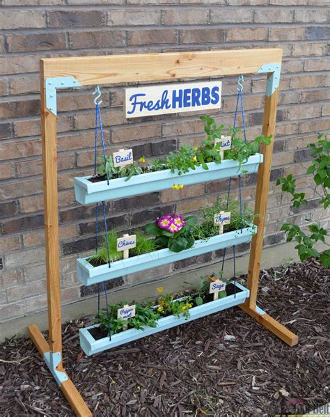 Herb Planter Stand by Hanging Gutter Planter And Stand Tool Belt