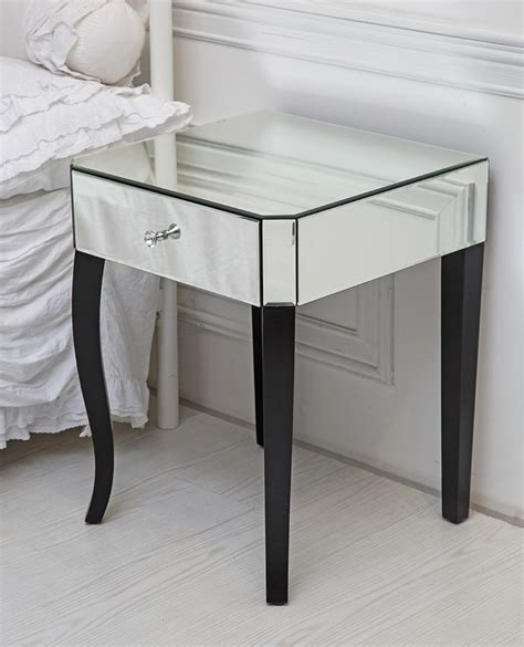 ebay bedside table ls single drawer venetian mirrored glass side table with
