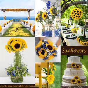 Your wedding theme calla lilies sunflowers or daisies