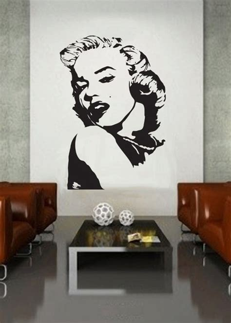 marilyn stickers for walls marilyn 3 uber decals wall decal vinyl decor