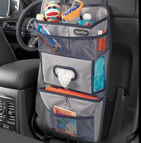 truck seat organizer high road tissuepockets gray seat back car organizer and