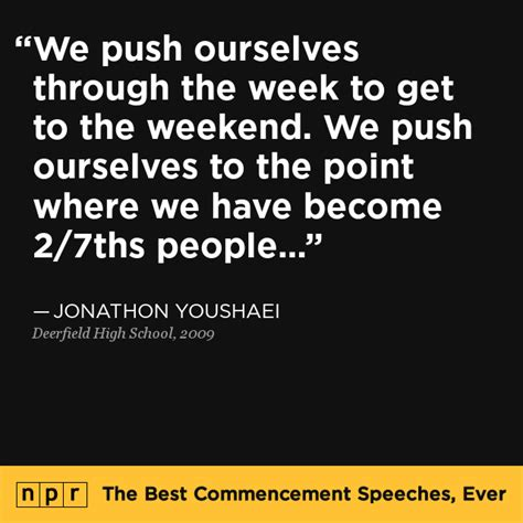 The Weekend Readfrom The Best Of The Best In 3 by Jonathon Youshaei At Deerfield High School 2009 The