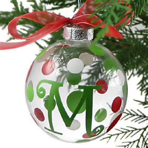 initial ornaments monograms lyrical letters personalized ornaments