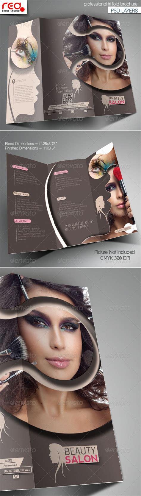 brochure templates buy beauty salon promotion trifold brochure template stuff