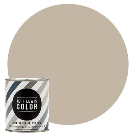 jeff lewis color 1 qt jlc214 quarry semi gloss ultra low voc interior paint 504214 the home
