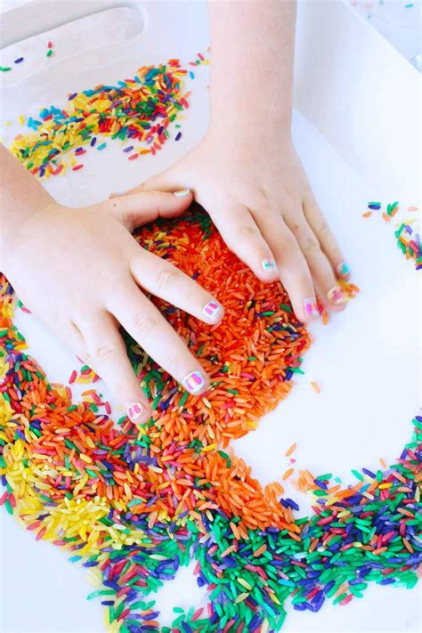 Kitchen Paints Colors Ideas Sensory Play Ideas Confetti Rice Babble Dabble Do