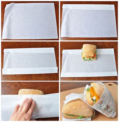 How To Fold Parchment Paper - how to wrap sandwiches in parchment paper summer