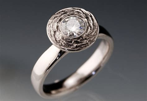 Handmade Unique Engagement Rings - unique engagement rings halo setting handmade weddings on