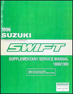 car repair manuals download 1996 suzuki swift parental controls 1996 suzuki swift 1000 1300 repair shop manual supplement original