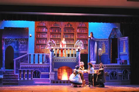 what town is beauty and the beast set in sets props bringing broadway to bell