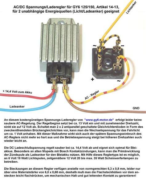 Motorrad Drosseln Gut Oder Schlecht by Scooter Elektrikpinbelegung Verschiedener Spannungsregler