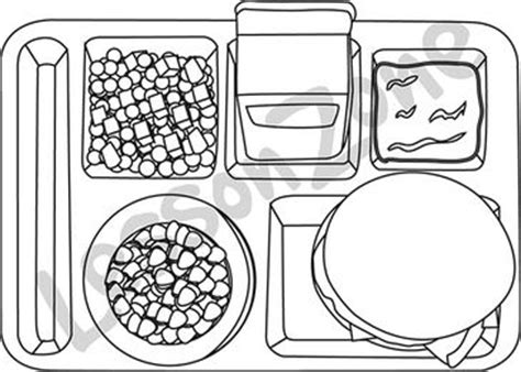 food tray coloring page lesson zone au lunchtime
