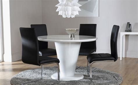 White High Gloss Dining Table And 4 Chairs White High Gloss Dining Table And 4 Chairs Set Perth Black Only 163 599 99