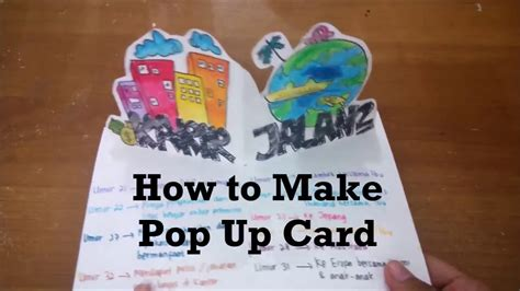 how do i make a pop up card how to make a pop up card tutorial membuat pop up