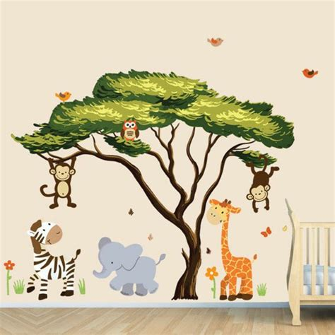 kinderzimmer bilder safari wandtattoos f 252 r kinderzimmer eine idee archzine net