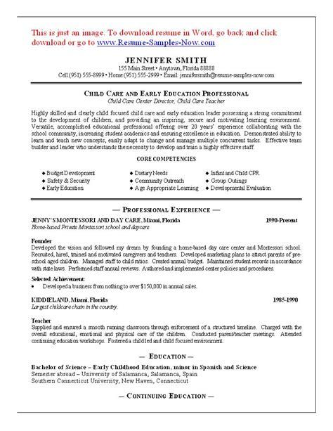 Child Care Resume Sample – Sample Resume For Child Care Job   BestSellerBookDB