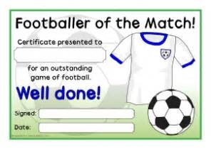 Of The Match Certificate Template by Primary Sports Award Certificates Sparklebox