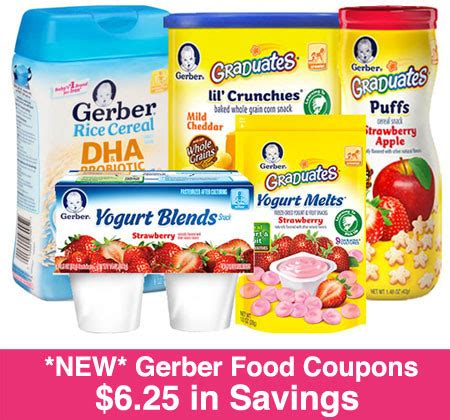 printable baby food coupons new 6 25 in gerber baby food coupons print now