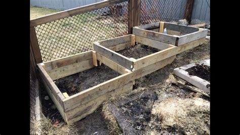 build raised garden beds   slope  hillside