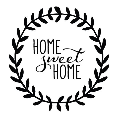 Sticker Wallpaper Dinding Welcome Sweet Home home sweet home leaves wall quotes decal wallquotes