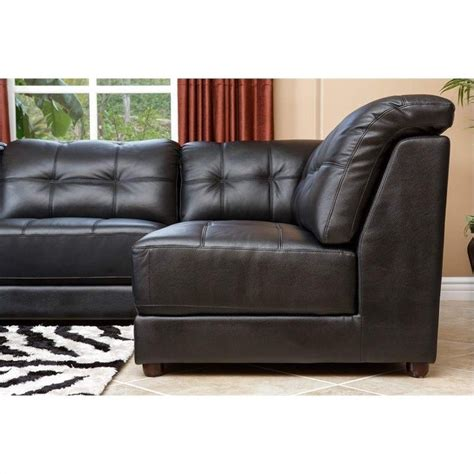 Abbyson Living Sectional by Abbyson Living Donovan 5 Modular Leather Sectional